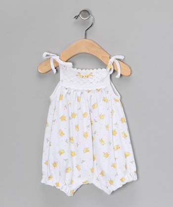 White Chick Crocheted Bubble Romper - Infant