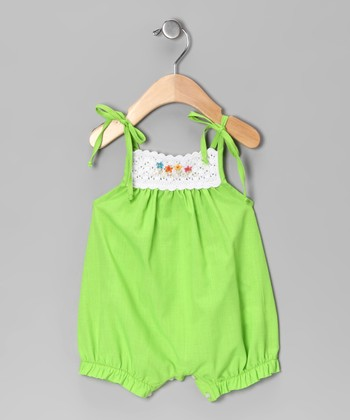 Lime Crocheted Bubble Romper - Infant
