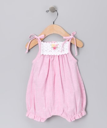 Pink Flower Bubble Romper - Infant