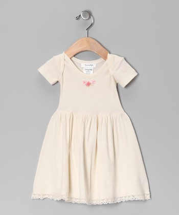 Ecru Flower Dress - Infant
