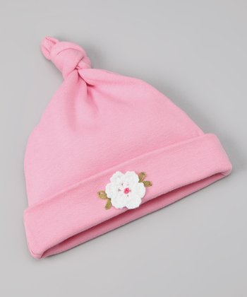 Light Fuchsia Single-Knot Beanie