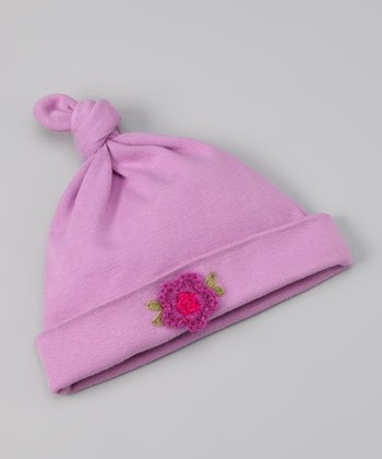 Lilac Single-Knot Beanie