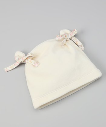Off-White Velour Bow Double-Knot Beanie