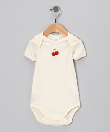Ecru Strawberry Bodysuit - Infant
