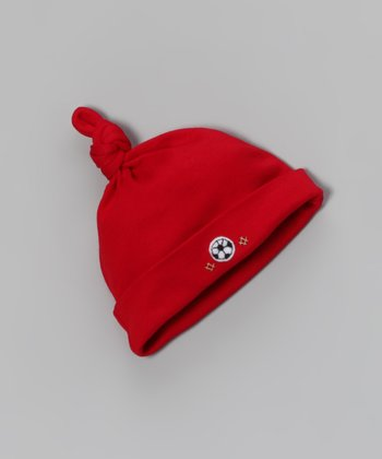 Red Soccer Single-Knot Beanie