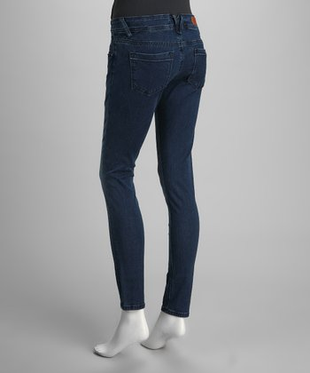 Vigoss Medium Blue Fade Skinny Jeans