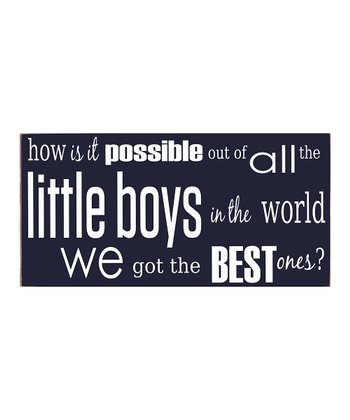 Navy & White Best Little Boy Wall Art