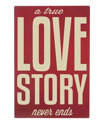 Vinyl Crafts Barn Red 'Love Story' Wall Art