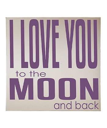 Cream & Purple 'Love You To the Moon' Wall Art