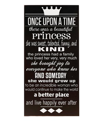 Black & White 'Once Upon a Time' Wall Art