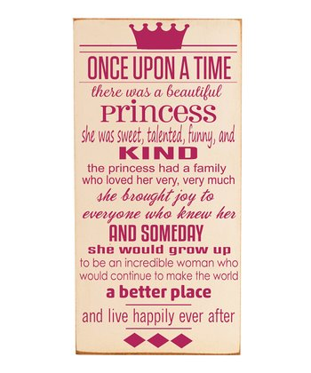 Cream & Pink 'Once Upon a Time' Wall Art
