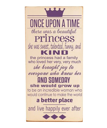 Cream & Purple 'Once Upon a Time' Wall Art