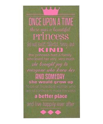 Green & Pink 'Once Upon a Time' Wall Art