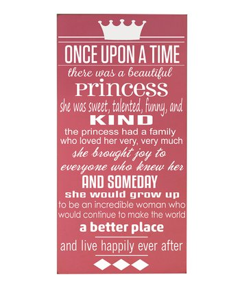 Pink & White 'Once Upon a Time' Wall Art