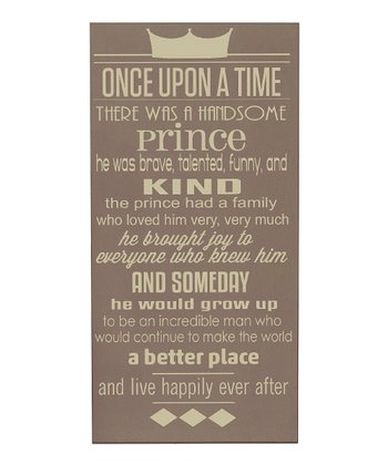 Sparrow & Cream Prince 'Once Upon a Time' Wall Art