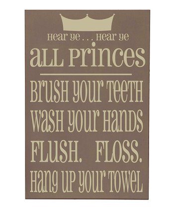 Sparrow & Cream 'Princes' Bathroom Wall Art