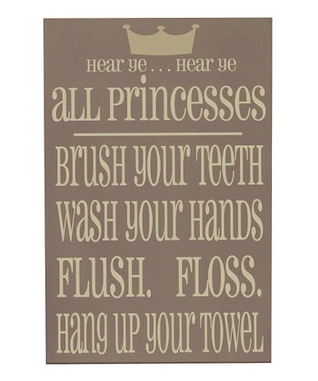 Sparrow & Cream 'Princesses' Bathroom Wall Art