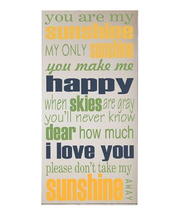 Cream & Navy 'You Are My Sunshine' Wall Art