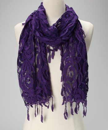 Violet Del Mar Purple Lace Scarf