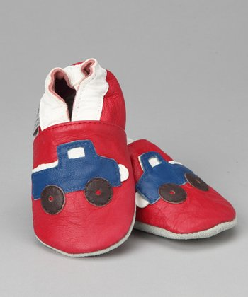 Violet Del Mar Red & Blue First Truck Booties