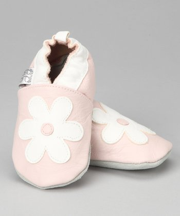 Violet Del Mar Pink & White Lovely Daisy Booties