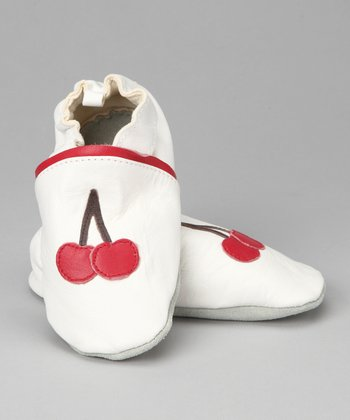 Violet Del Mar White & Red Mon-Cherry Booties