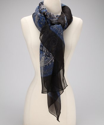 Black & Blue Royal Vintage Scarf