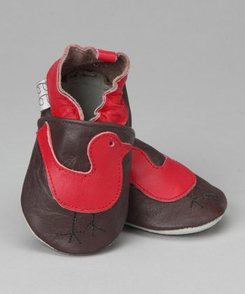 Violet Del Mar Brown & Red Bird Booties