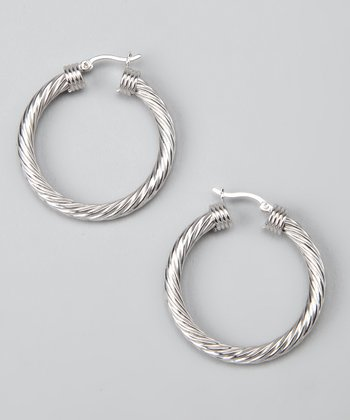 Sterling Silver Tiny Twist Hoop Earrings