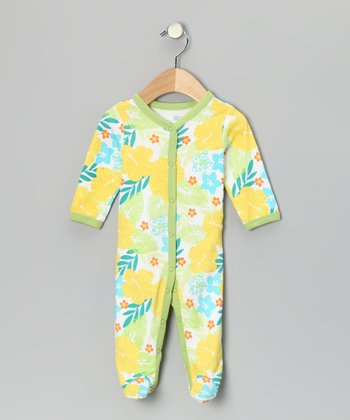 Yellow Surf Safari Footie - Infant