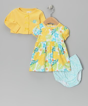 Yellow Surf Safari Dress Set - Infant