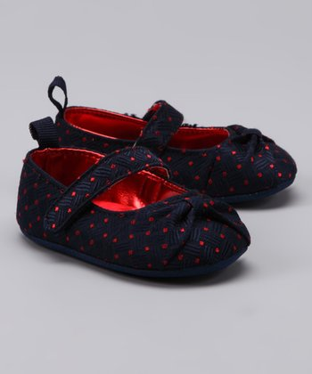 Navy & Red Polka Dot Mary Jane