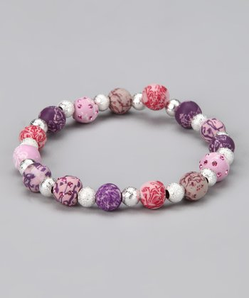 Plum Orchard Crystal Accent Stretch Bracelet