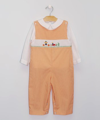 White Top & Sunrise Harvest John Johns - Infant & Toddler