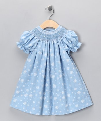 Blue Snowflake Bishop Dress - Infant & Toddler