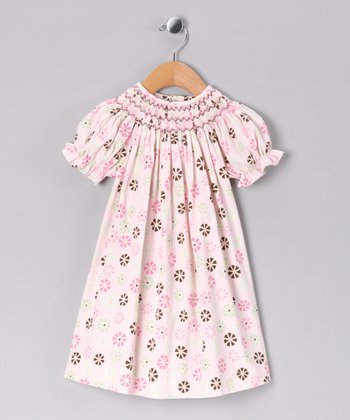 Pink Floral Bishop Dress - Infant