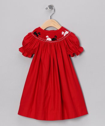 Red Scotty Bishop Dress - Infant, Toddler & Girls