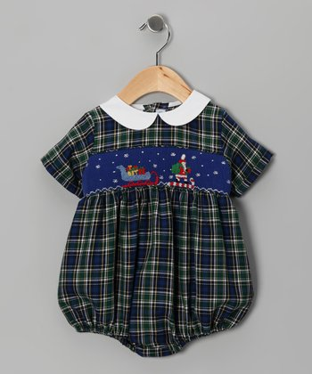Blue Plaid Sleigh Bodysuit - Infant