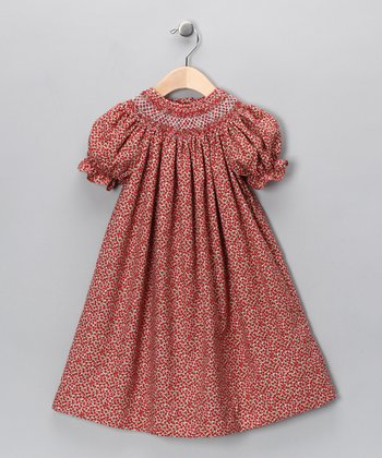 Red Rose Bishop Dress - Toddler