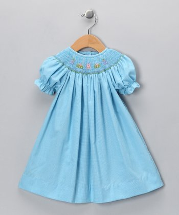 Blue Gift Bishop Dress - Toddler & Girls