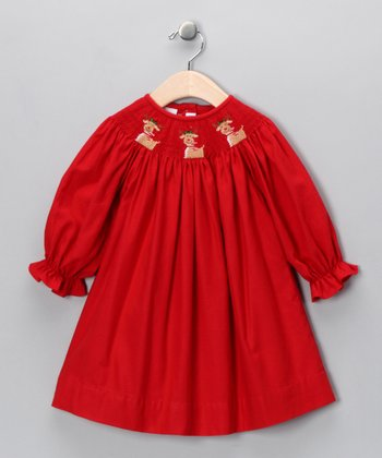 Red Rudolph Bishop Dress - Infant & Girls