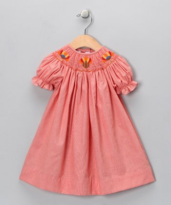 Orange Turkey Bishop Dress - Infant, Toddler & Girls