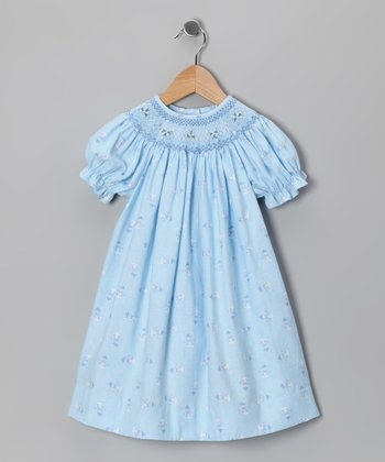Blue Snowmen Bishop Dress - Infant & Toddler