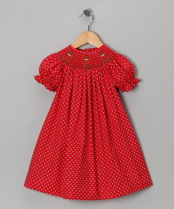 Red Gingerbread Bishop Dress - Infant & Toddler
