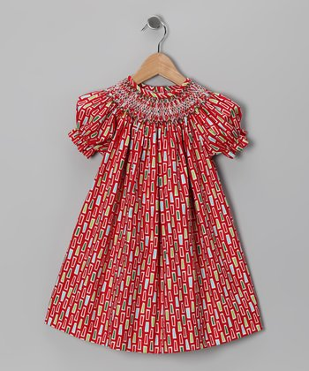 Red Rectangle Bishop Dress - Infant & Toddler