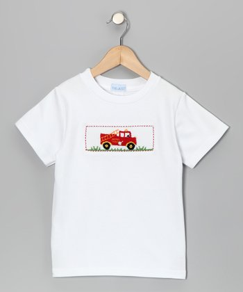 White Fire Truck Tee - Infant, Toddler & Boys