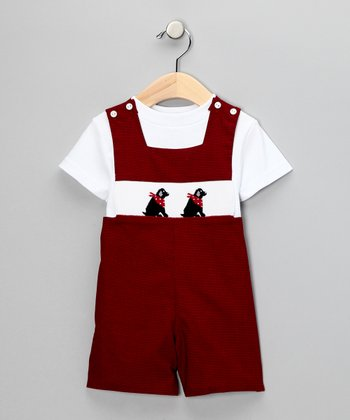 Vive la Fete Red & White Labrador Tee & John Johns - Infant