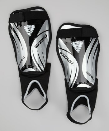 Silver & Black Napoli Shin Guards