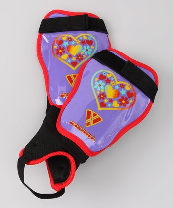 Purple & Red Harmony Shin Guards
