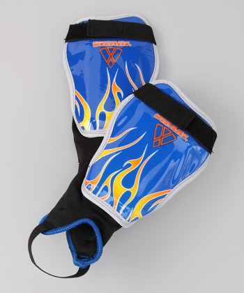 Blue & Orange Blaze Shin Guards